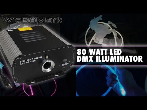 80 Watt LED DMX Fiber Optic Illuminator