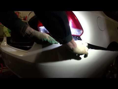 Как снять задний бампер поло седан