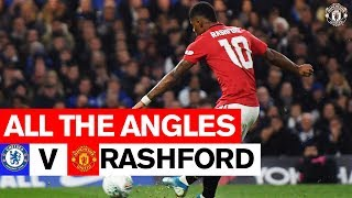 Rashford Free Kick  All The Angles  Chelsea 1-2 Manchester United  Carabao Cup