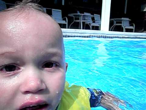 Baby Swimming At Veyo Pool Youtube