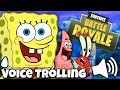 SpongeBob Voice Trolling in Fortnite [#2] (Funny Reactions) feat. Patrick & Mr. Krabs Impressions