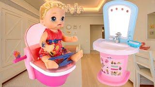 Новый Трон Куклы Сони Горшочки Стали Малы! Мультики Как Мама Играет в Куклы Беби Бон 108мама тв
