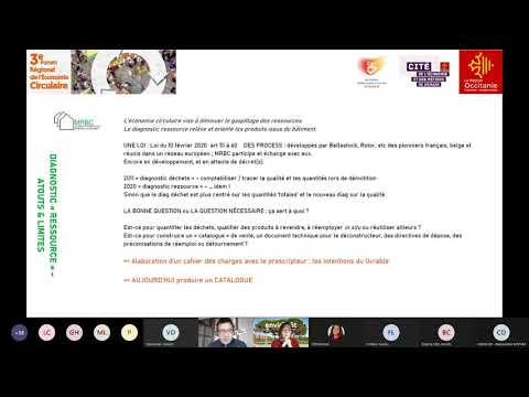 Atelier réemploi dans le BTP - 3ème forum Économie Circulaire Occitanie