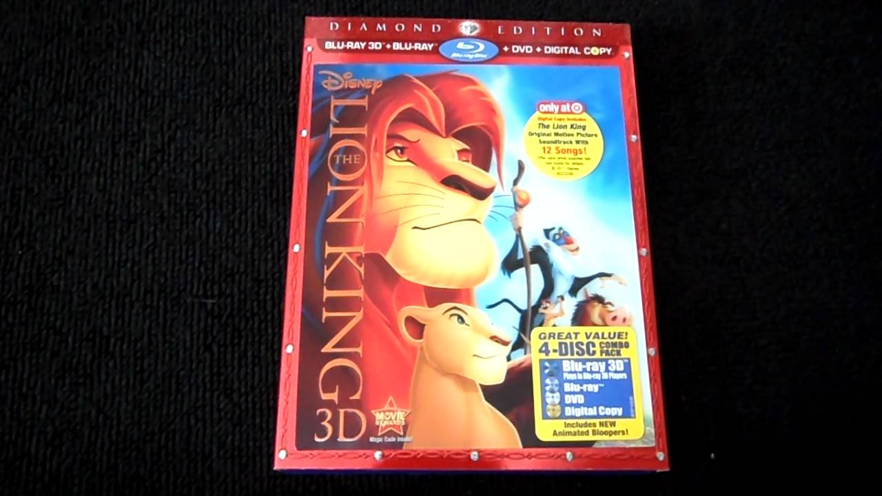 The Lion King Diamond Edition 3d Target Exclusive Blu Ray Review And Unboxing Youtube