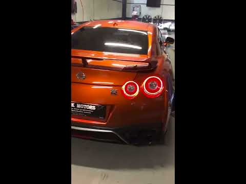 Beautiful Blaze Metallic 2017 Nissan GT-R Walk Around & ARMYTRIX Exhaust Fitted Sound Test