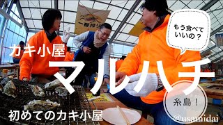 Itoshima Kakigoya 初めての「糸島カキ小屋」マルハチ 鶴瓶の家族に乾杯...