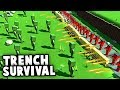 INSANE Zombie TRENCH SURVIVAL And FALLOUT CHALLENGE Maps! (Ancient Warfare 3 Gameplay)