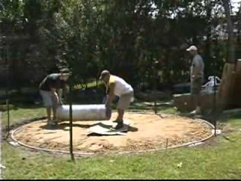 Instructions For Setting Up A Round Above-Ground Pool