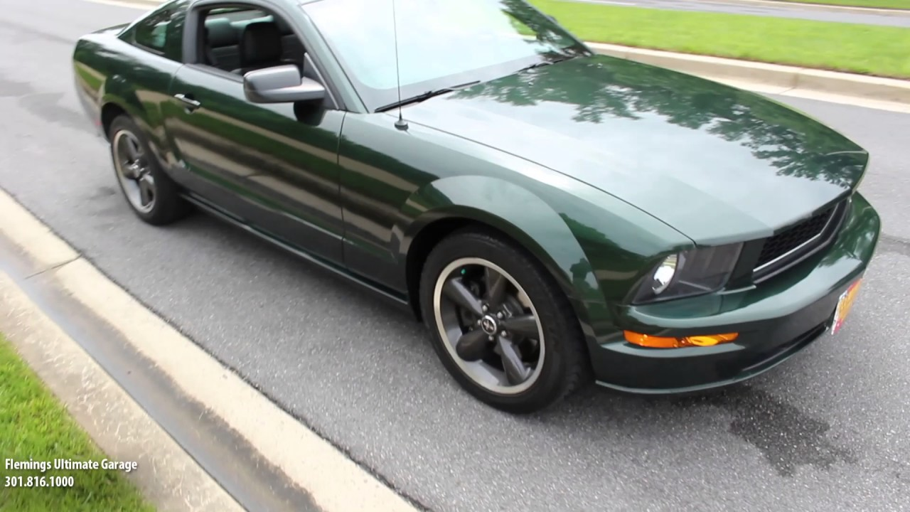 Sneak Peak \'09 Ford Bullitt Mustang for sale with test drive - YouTube