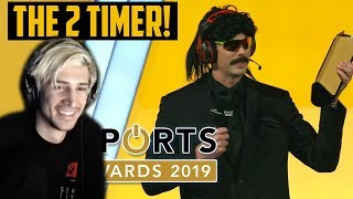 xQc Reacts to DrDisrespect Winning Streamer of the Year 2019!