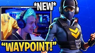 "NINJA REACTS TO *NEW* ""WAYPOINT"" SKIN IN FORTNITE (ITEM SHOP 7)"