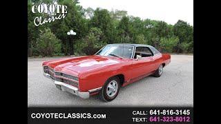 1969 LTD Red 429 for sale at www coyoteclassics com
