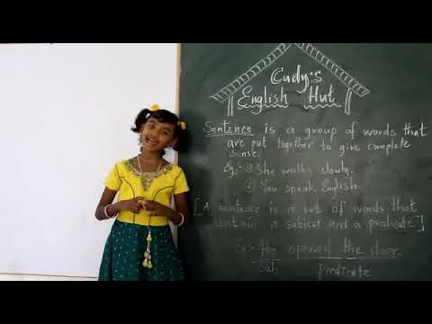 8Years Girl from grade 3 is teaching English