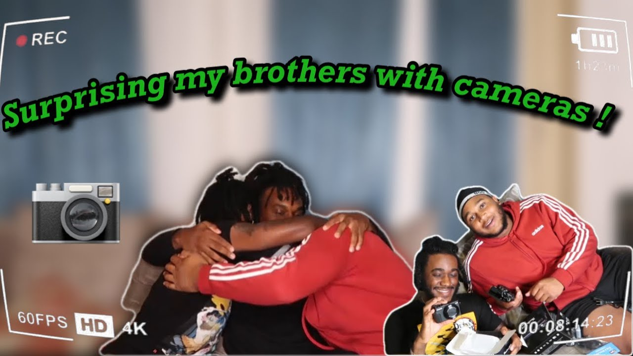 SUPRISING MY BROTHERS WITH CAMERAS !!