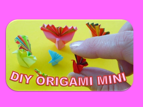 DIY ORIGAMI MINIATUR PEACOCK QUICK AND EASY GIFT IDEAS MOTHER'S DAY; PFAU EINFACH FATERTAGSGESCHENK