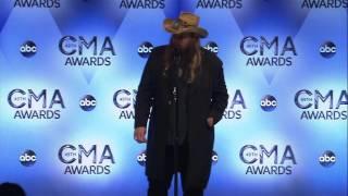 Chris Stapleton Reacts to CMA Award Wins
