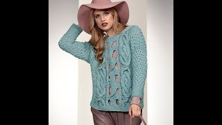 Джемпер Пуловер, Спицами для Женщин - 2019 / Jumper Pullover Knitting needles for Women