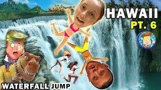 Repeat youtube video WATERFALL JUMPING KIDS! Epic Hiking Adventure @ Twin Falls Hawaii (FUNnel Vision Trip - Maui Part 6)