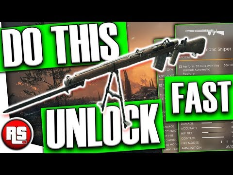 Howell Automatic Sniper: How to unlock new weapon (FAST!) Battlefield 1 - Bf1 apocalypse dlc