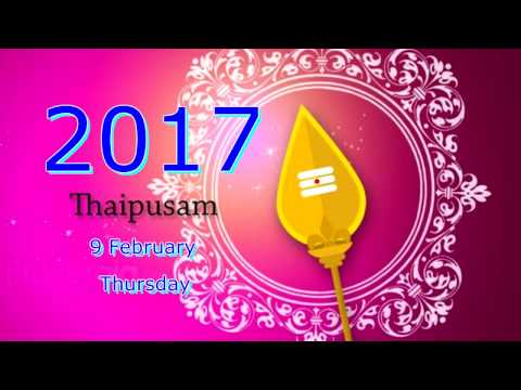 Awesome Thaipusam Procession 2017 In Asia - 新加坡大宝森游行2017 (棒!!)