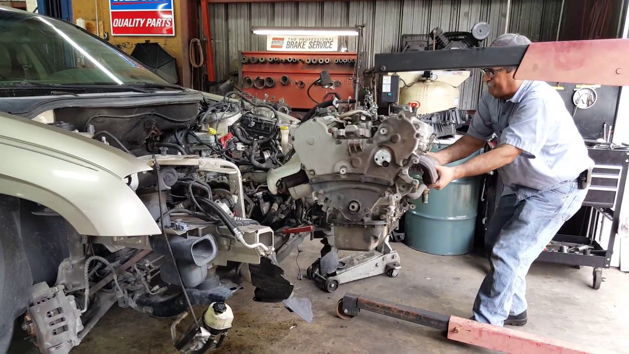 Removing The Motor From A Chrysler Pacifica Performance Transmission Gainesville Fl