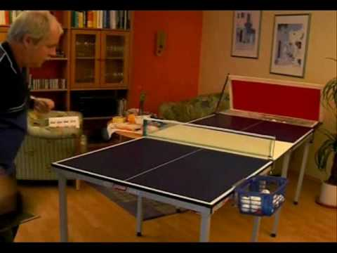 Ping pong for everyone freestyle table tennis at home youtube - Construire table ping pong ...