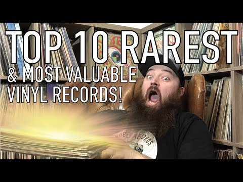Top 10 RAREST & Most Valuable Vinyl Records in my Collection!