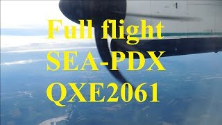 *Full Flight* Alaska Airlines (Horizon Air) Bombardier DHC 8 Q400 [N418QX] Full flight SEA-PDX