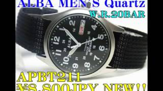 ALBA(SEIKO)MEN'S Quartz Watch APBT211 ¥8,800JPY NEW!!