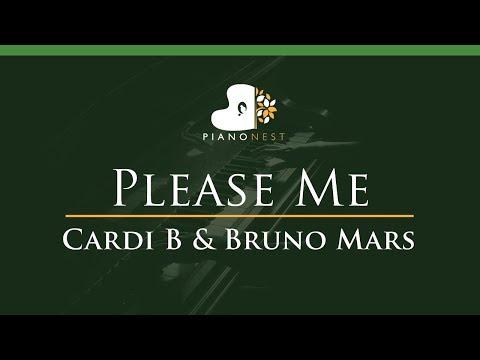 Cardi B & Bruno Mars - Please Me - LOWER Key (Piano Karaoke / Sing Along)