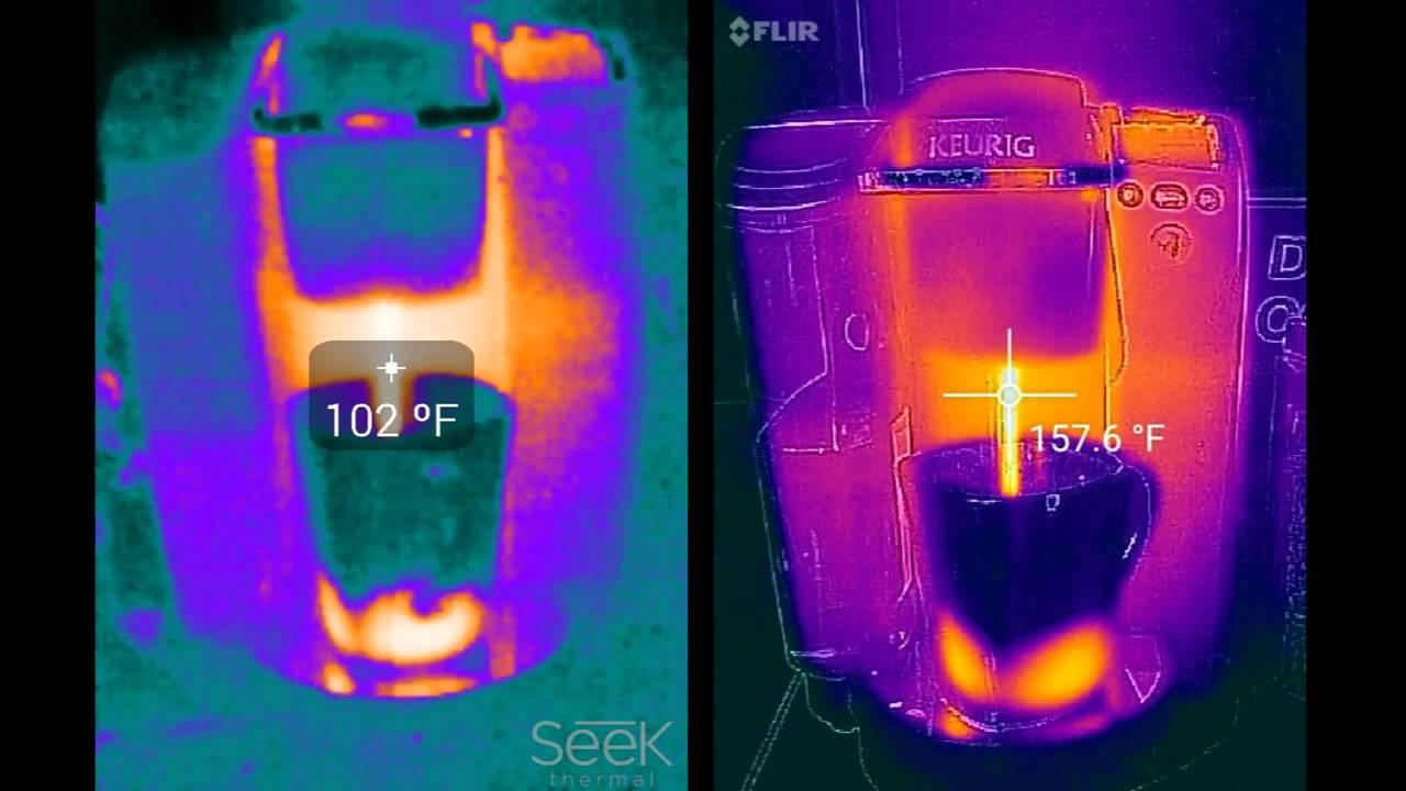 Seek Thermal Camera >> Flir one (Android, right) vs Seek thermal (left) & Keurig ...