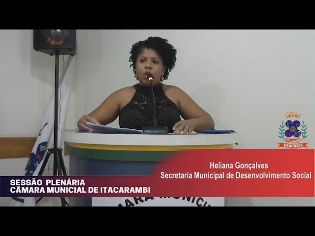 Câmara Municipal de Vereadores de Itacarambi MG Reunião realizada no dia 20/10/2021