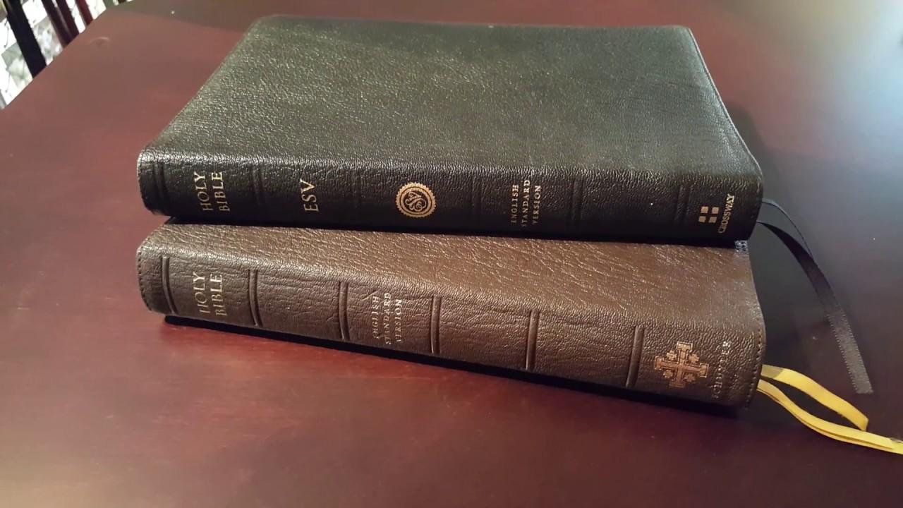 Bible Comparison - ESV Schuyler Bible vs  Crossway ESV 75th Anniversary  Edition Omega
