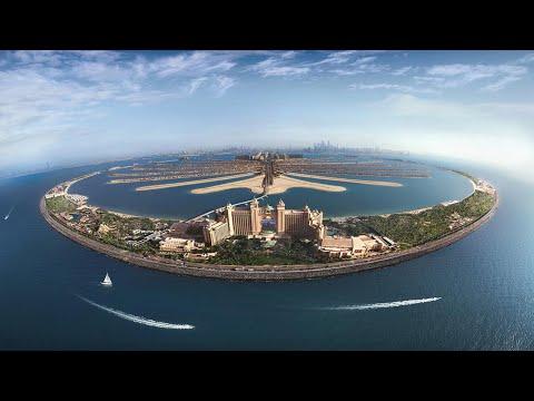 Dubai The Palm Jumeirah    presentazione delfini   Dolphin bay