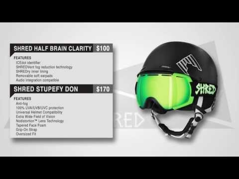 Shred Half Brain Clarity Helmet / Stupefy Don Goggle - 2014