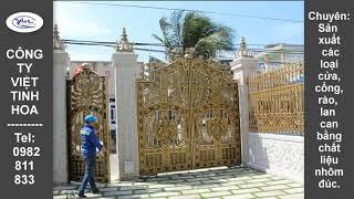 Cổng nhôm đúc đẹp | Việt Tinh Hoa (viettinhhoa.com.vn)