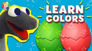 Red Surprise Eggs, Gloves, Crayon and more |  Learn Colors for Babies, Toddlers, Kids  | BabyFirst