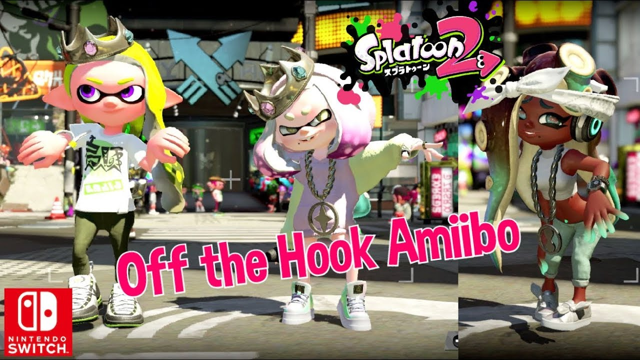 Nintendo Splatoon 2 Off The Hook Pearl And Marina Amiibo New Gear Gameplay Switch Youtube
