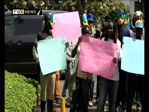 Kenya gay community protests Uganda homosexuality bill