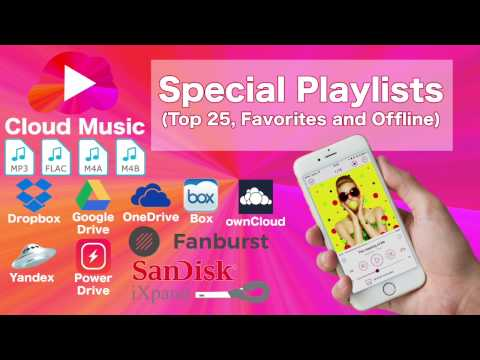 Special Playlists of Cloud Music: Top 25, Offline, Favorite