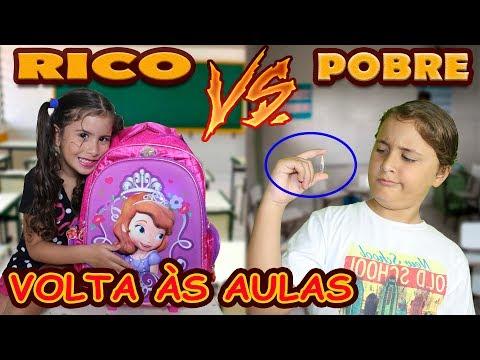RICO Vs POBRE - VOLTA ÀS AULAS / MARIA CLARA E JP