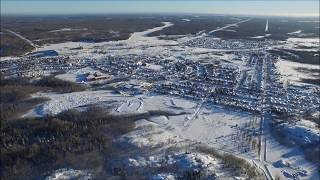 Altitude flight over iroquois falls, On 1 with Music