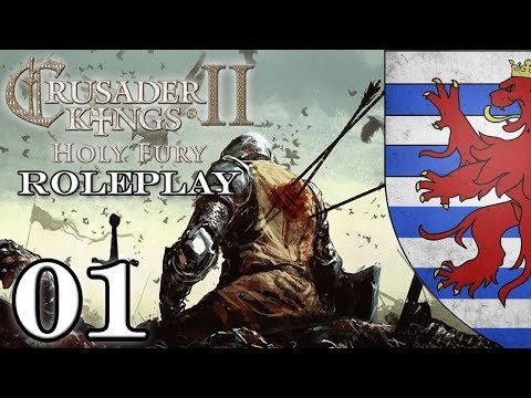 Let's Play Crusader Kings 2 II Holy Fury | CK2 Roleplay Gameplay | Lusignan Dynasty Episode 1