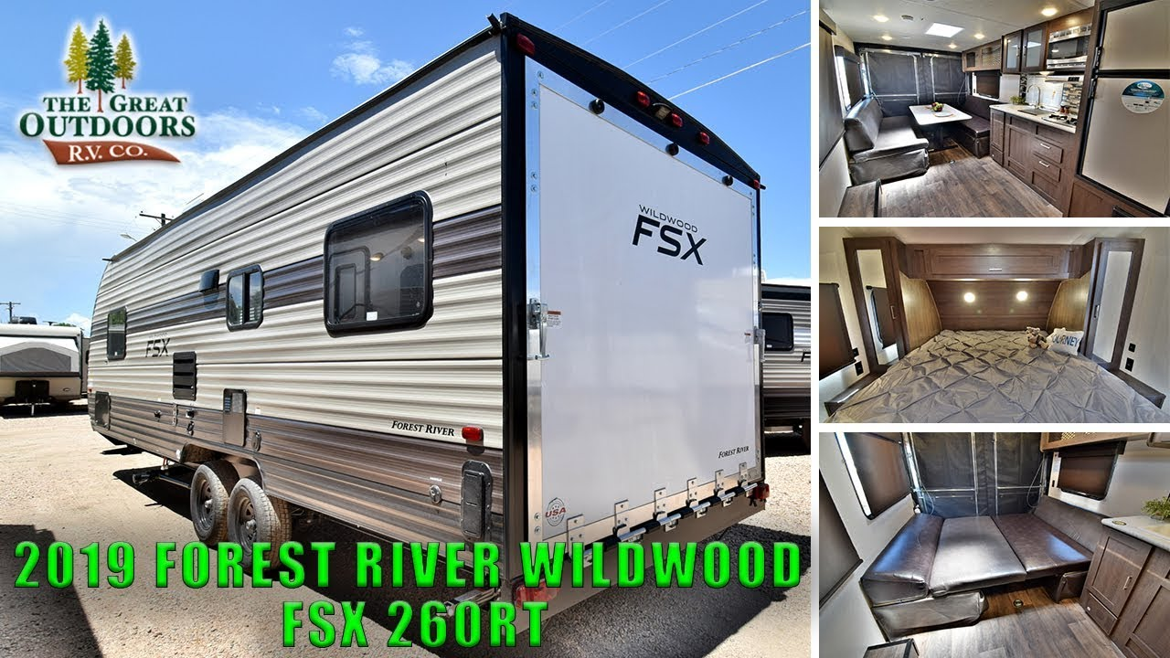 2019 FOREST RIVER WILDWOOD FSX 260RT Toy Hauler RV Travel Trailer Colorado