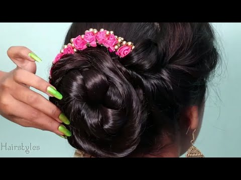 NEW twisted juda hairstyle for party | wedding hairstyles | bun hairstyles | new hairstyle thumbnail