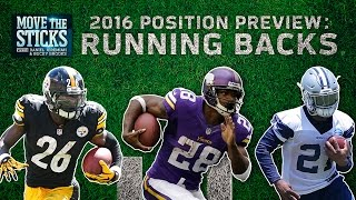 Top 5 Running Backs & Top 3 Rookies to Watch (2016 Position Preview) | Move the Sticks | NFL