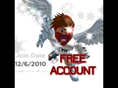 Roblox Free Account With Password 2019 2010 Account Youtube