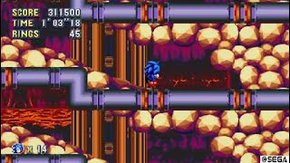 Sonic Mania (PS4) - Lava Reef Zone (Super Sonic Gameplay)