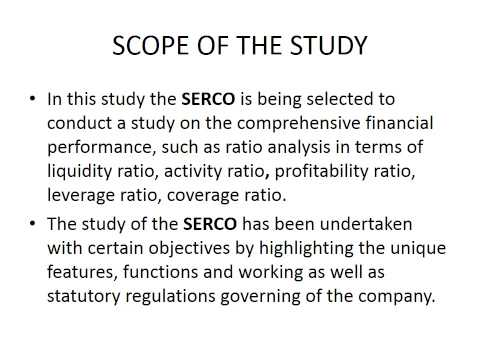 scope of ratio analysis study