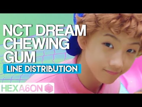 NCT DREAM - Chewing Gum Line Distribution (Color Coded)